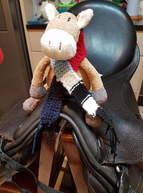 Police Officer shows just how proud she is to be an FE member through knitting!