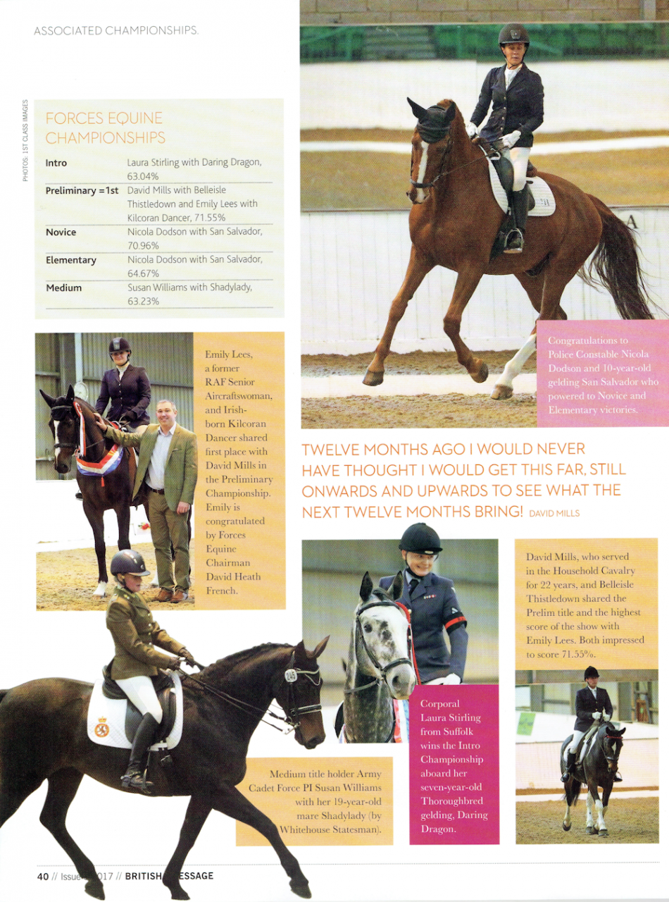 Forces Equine British Dressage Championships