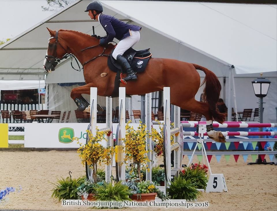 FE Member Lisa Hinton's Holisco comes 8th out of 70 competitors at the British Showjumping National Championships