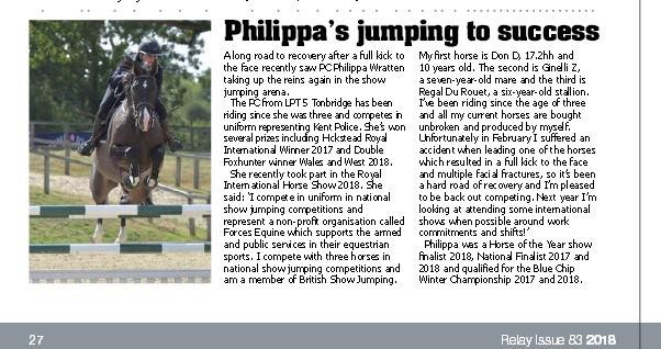 PC Philippa Wratten Jumping To Success