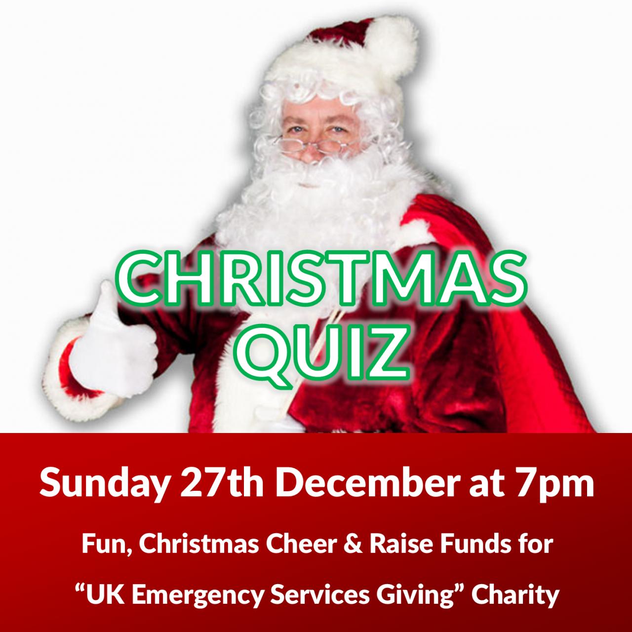 Christmas Charity Quiz raising funds for UK Emergency Responders